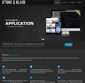 Stone and Blade website